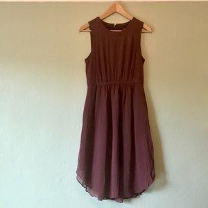 Madewell silk midi dress with pockets size 2